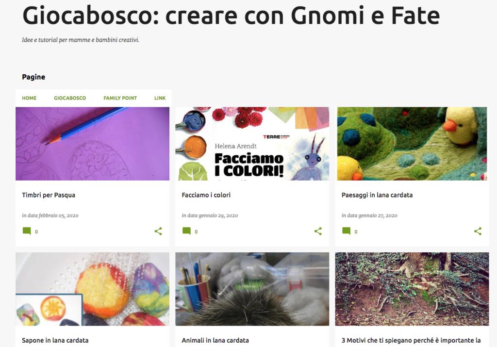 blog creare con gnomi e fate